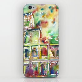 COLOSSEUM - watercolor painting iPhone Skin