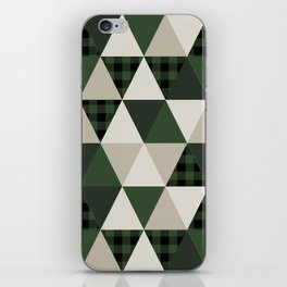 Hunter Green camping cabin glamping cheater quilt baby nursery gender neutral iPhone Skin