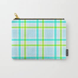 Summer Plaid Carry-All Pouch