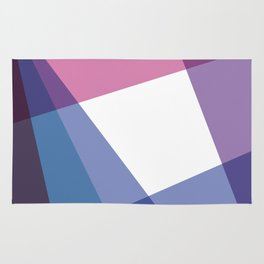 Fig. 003 Colorful Geometric Shapes Pink Blue Rug