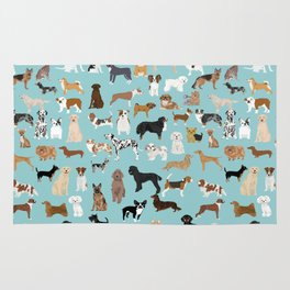Dogs pattern print must have gifts for dog person mint dog breeds Rug