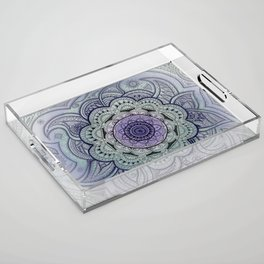 Mandala Violet Acrylic Tray