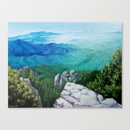 View From Sandia Mountain Crest Canvas Print
