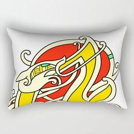 Viking Dragon of Infinite Warmth Rectangular Pillow