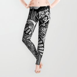 Death & Devil - Jack of Spades Card - The wages of sin is death (for Vito) Leggings