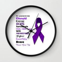 Awareness Sarcoidosis Ribbon Wall Clock