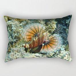 Lionfish at Ha'atafu Beach Rectangular Pillow
