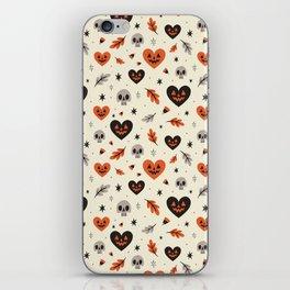 I Heart Fall Pattern iPhone Skin