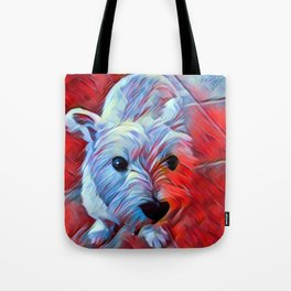 The WESTIE from our POP YOUR POOCH line Tote Bag