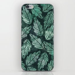Colorful leaves IV iPhone Skin