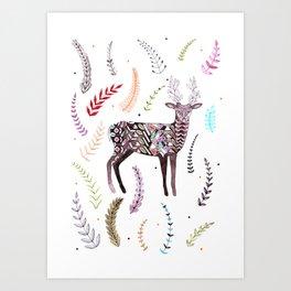 Flowering Antlers Art Print