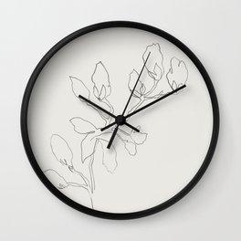 Floral Study No. 3 Wall Clock