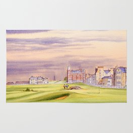 St Andrews Golf Course Scotland 17th Green Rug