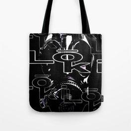 loki stitch design - black mask Tote Bag