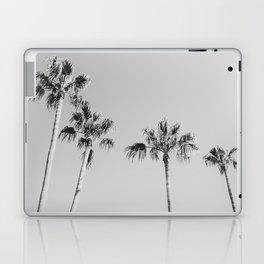 Black Palms // Monotone Gray Beach Photography Vintage Palm Tree Surfer Vibes Home Decor Laptop & iPad Skin