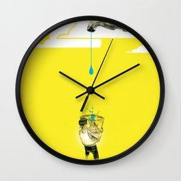 "Glue Network Print Series ""Water / Hygiene / Sanitation"" Wall Clock"