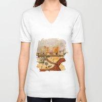 brooklyn V-neck T-shirts featuring Brooklyn by Katy Davis