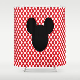 Mouse Silhouette Shower Curtain