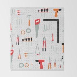 Tool Wall Throw Blanket