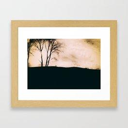 Te Whenua At Dusk Framed Art Print