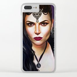 EVIL QUEEN Clear iPhone Case