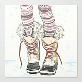 Snow way I'm going outside without my snow boots Canvas Print