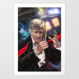 3rd Doctor Who Art Print