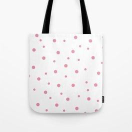 Seamless Pink Polka Dots Pattern Tote Bag