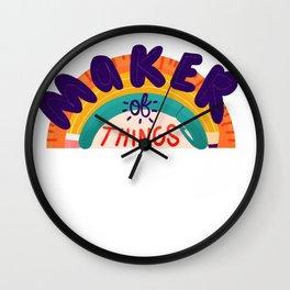 Maker of Things Wall Clock
