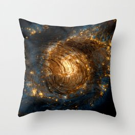 Starry Galaxy Night Throw Pillow