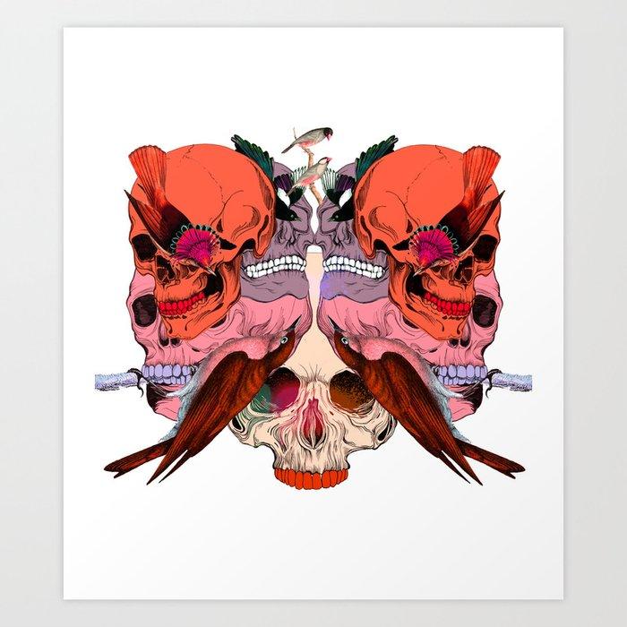 Bird Mask Art Print