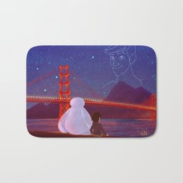 You're in the night sky now, Tadashi Bath Mat
