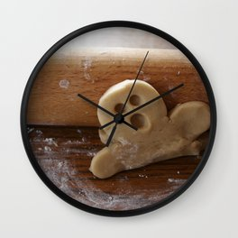 Ginger bread man and rolling pin Wall Clock