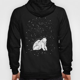 Polar Bear and Constellation Arctic Night Sky Stars Hoody