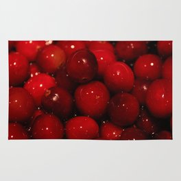 Cranberries Photography Print Rug