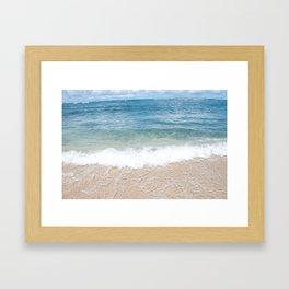 Horizontal Ocean Print Framed Art Print