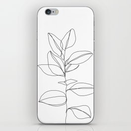One line plant illustration - Dany iPhone Skin