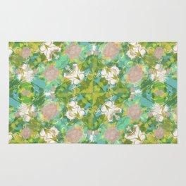 Vintage Floral Print Pattern Rug