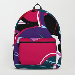 Brunette Hoodie Girl Abstract Art Backpack