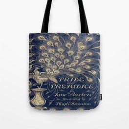 Pride and Prejudice, Peacock; Vintage Book Cover Tote Bag