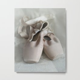 Pink ballet shoes Metal Print