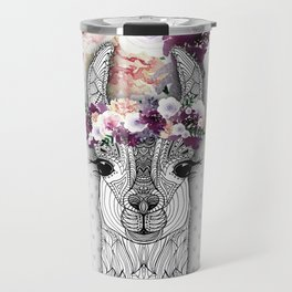 FLOWER GIRL ALPACA Travel Mug