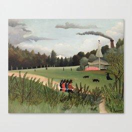 Landscape and Four Young Girls, Henri Rousseau, 1895 Canvas Print