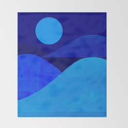 Abstraction_Moonlight Throw Blanket
