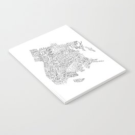 Bronx - Hand Lettered Map Notebook
