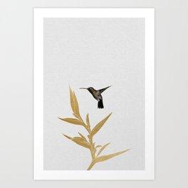Hummingbird & Flower II Art Print
