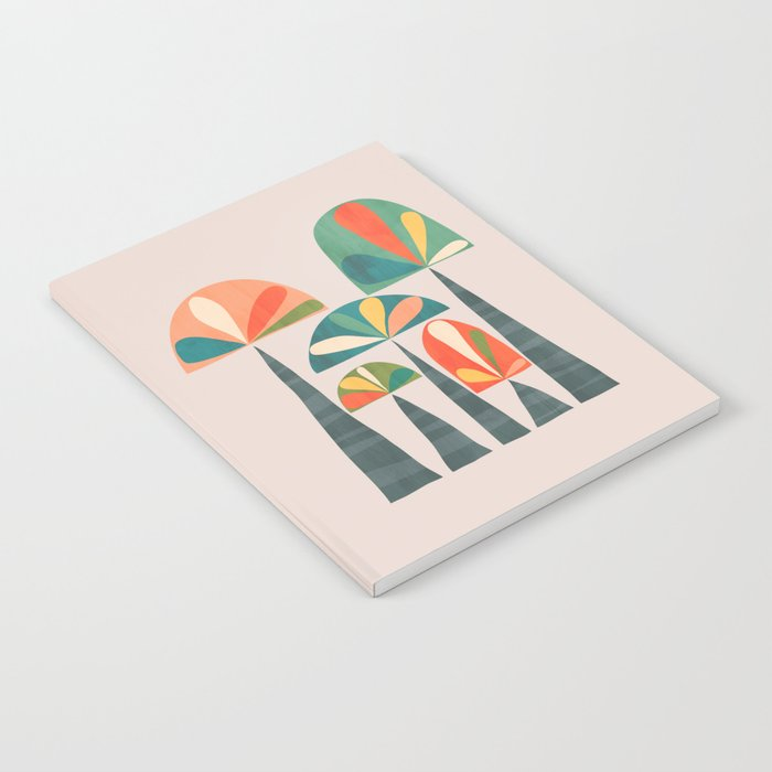 Quirky retro palm trees Notebook