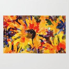 Golden Sunflower Garden Rug