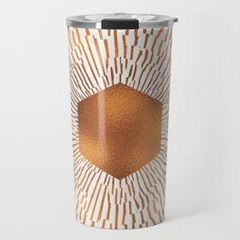 Geometric copper sun Travel Mug