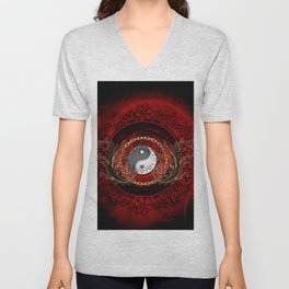 The sign ying and yang Unisex V-Neck